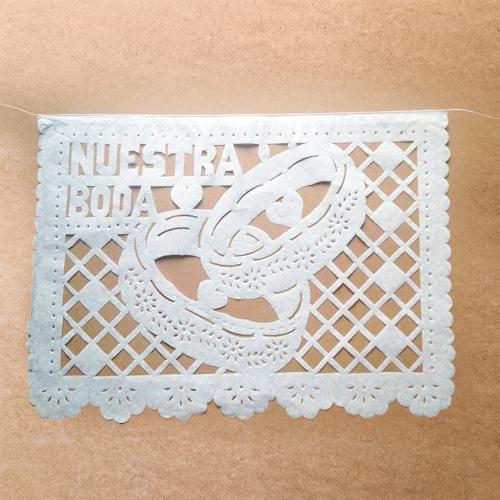 Decoraci n para boda en papel picado ver papel picado - Como hacer cadenetas de papel para fiestas ...