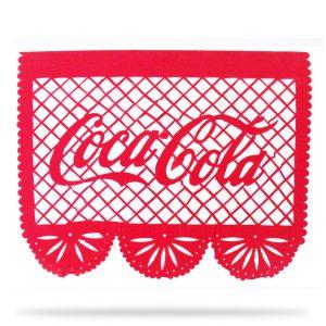 Tira de Papel Picado con Logotipo Coca Cola